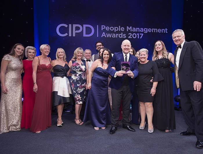 MTD Training winning a CIPD Award