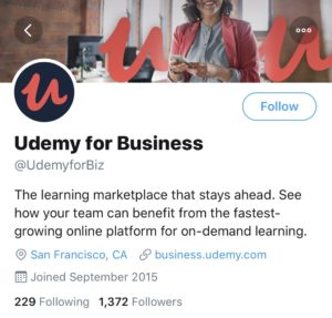 Udemy for Business Twitter